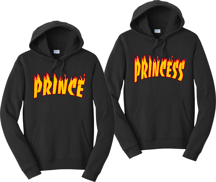 Prince & Princess  Unisex Hooded Sweatshirt