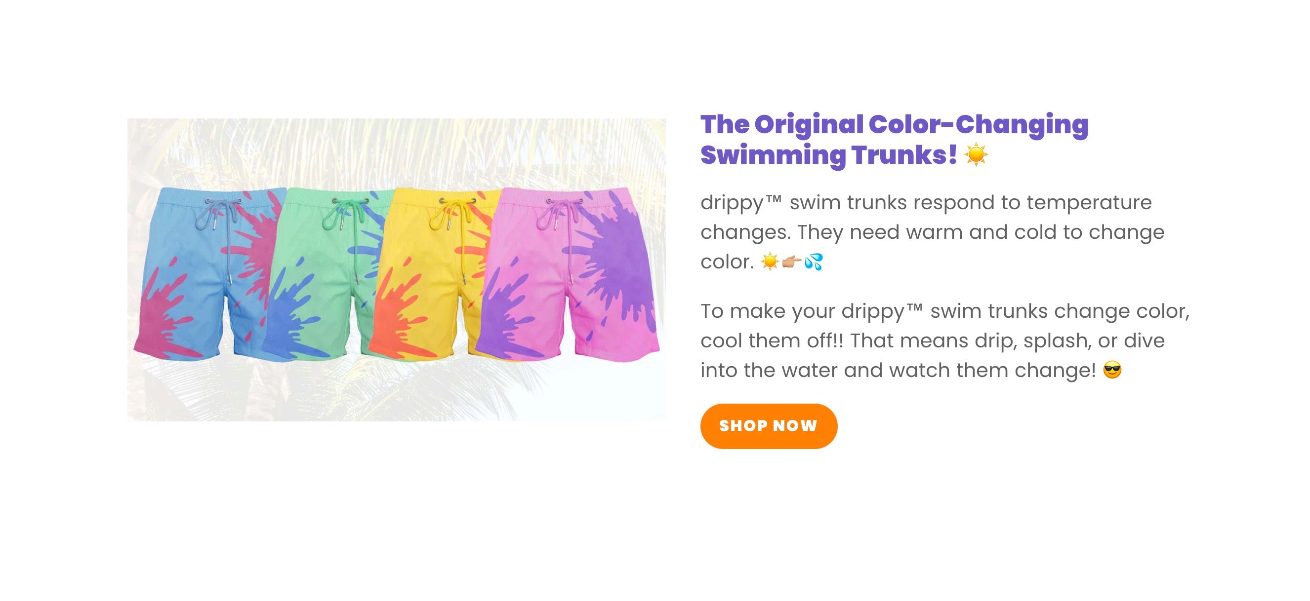 color changing swimming shorts