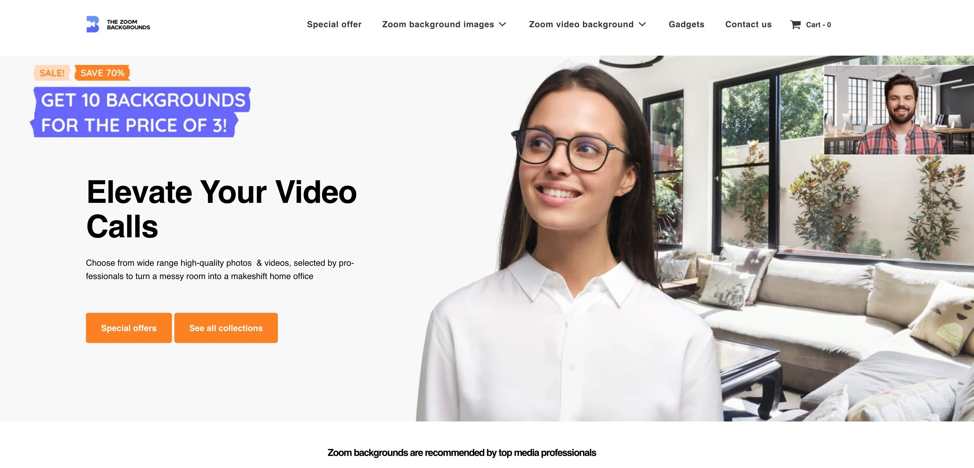background zoom video conferencing