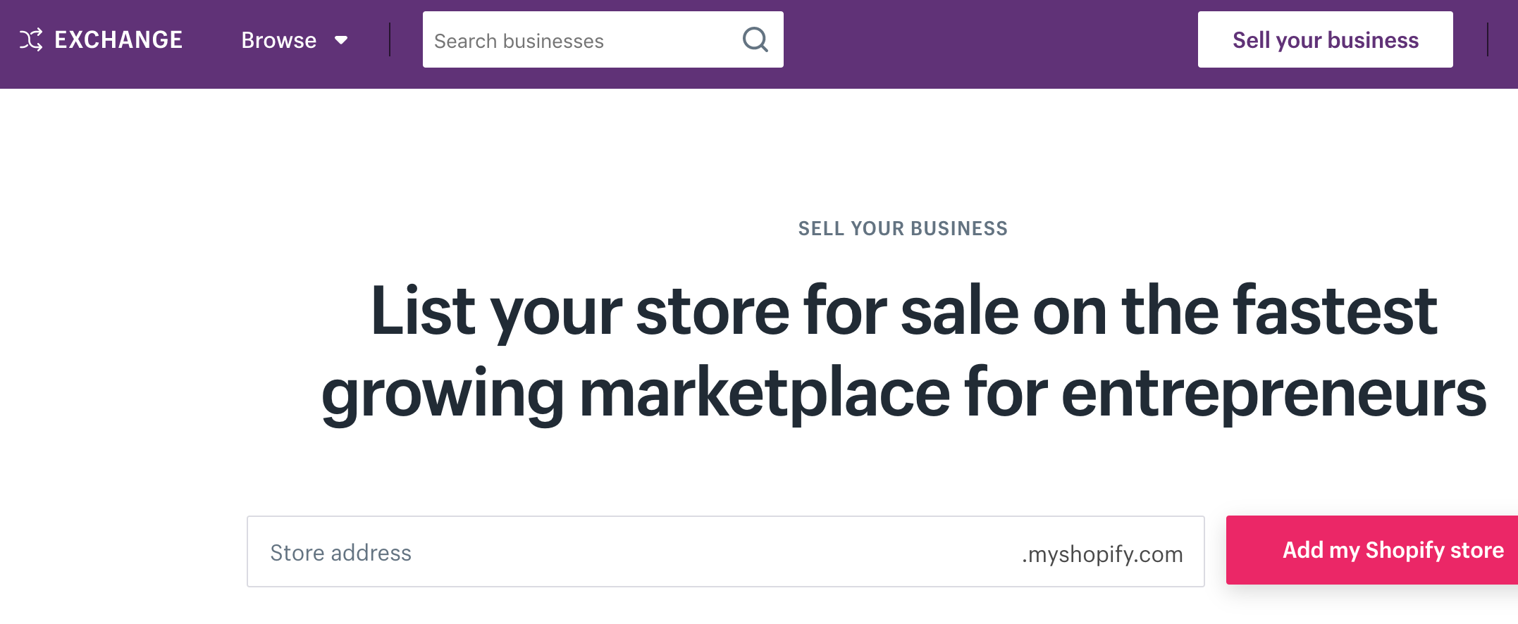 sell your business on exchange