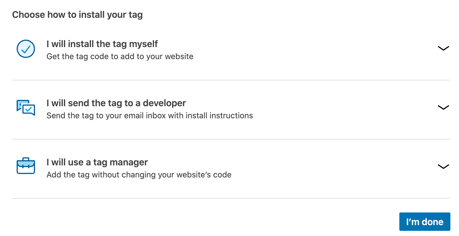 choose how to install insight tag