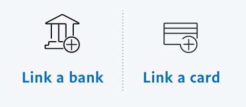 connect your bank account or credit card