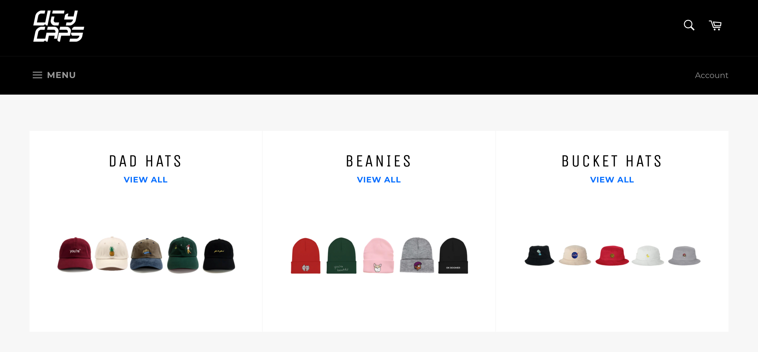 online hats business