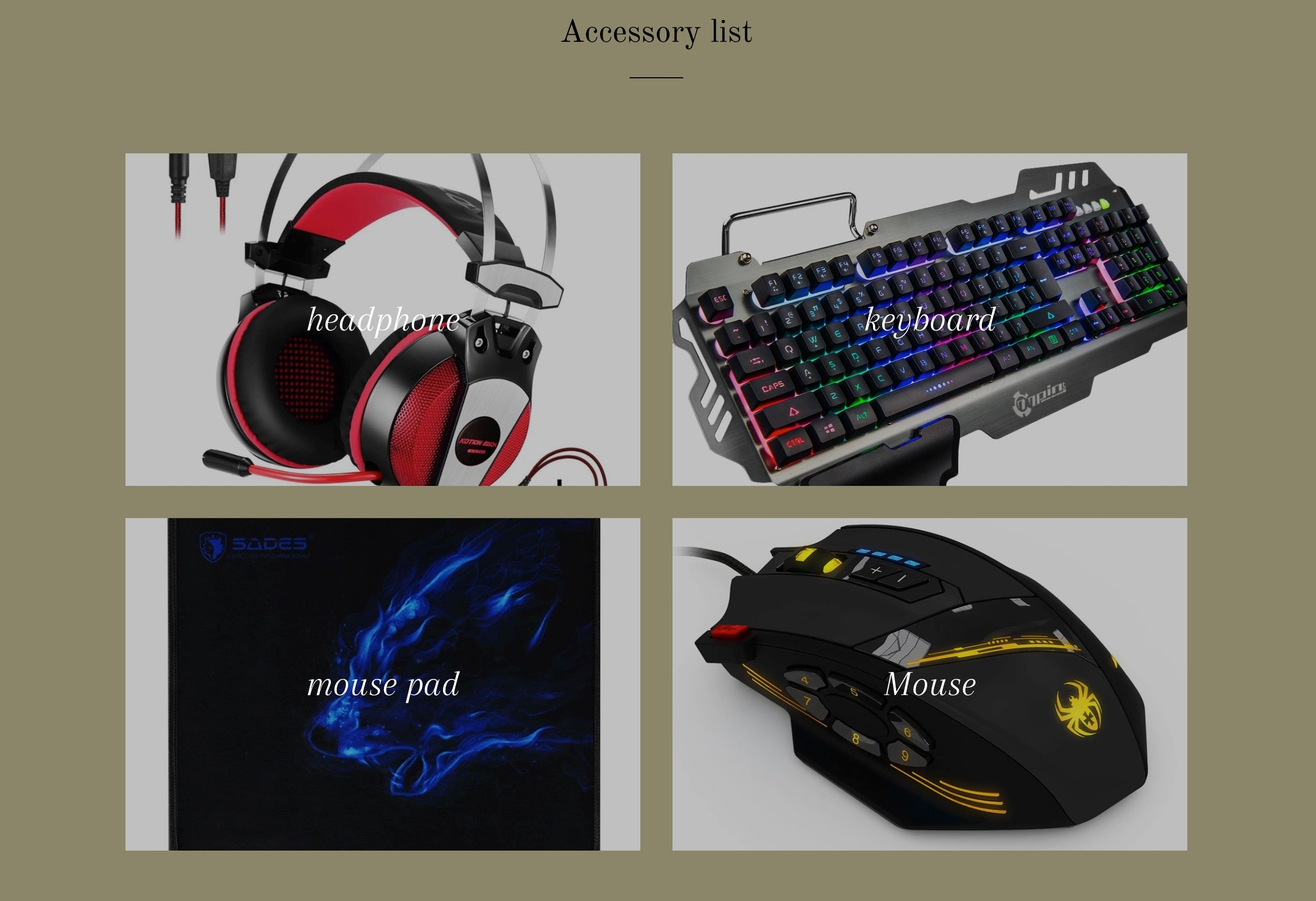 gaming accessory store