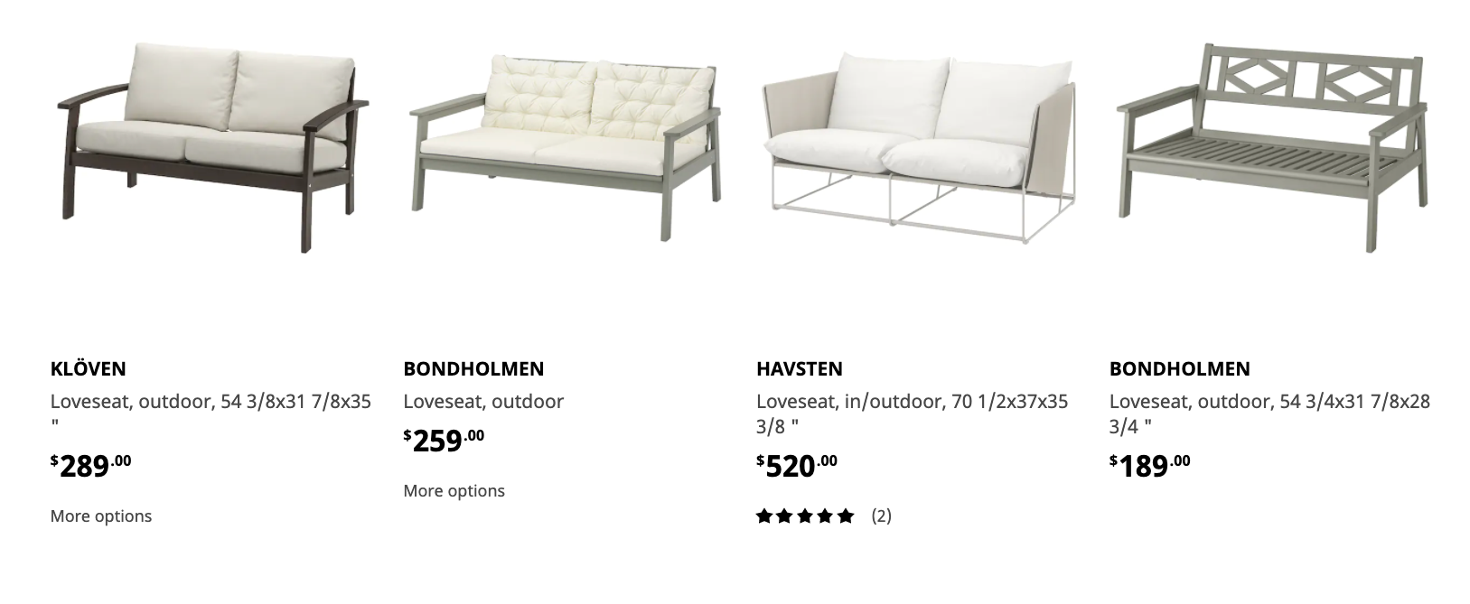 ikea product recommendations