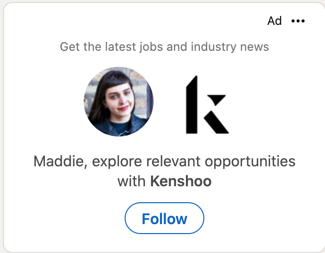 linkedin targeted ad example