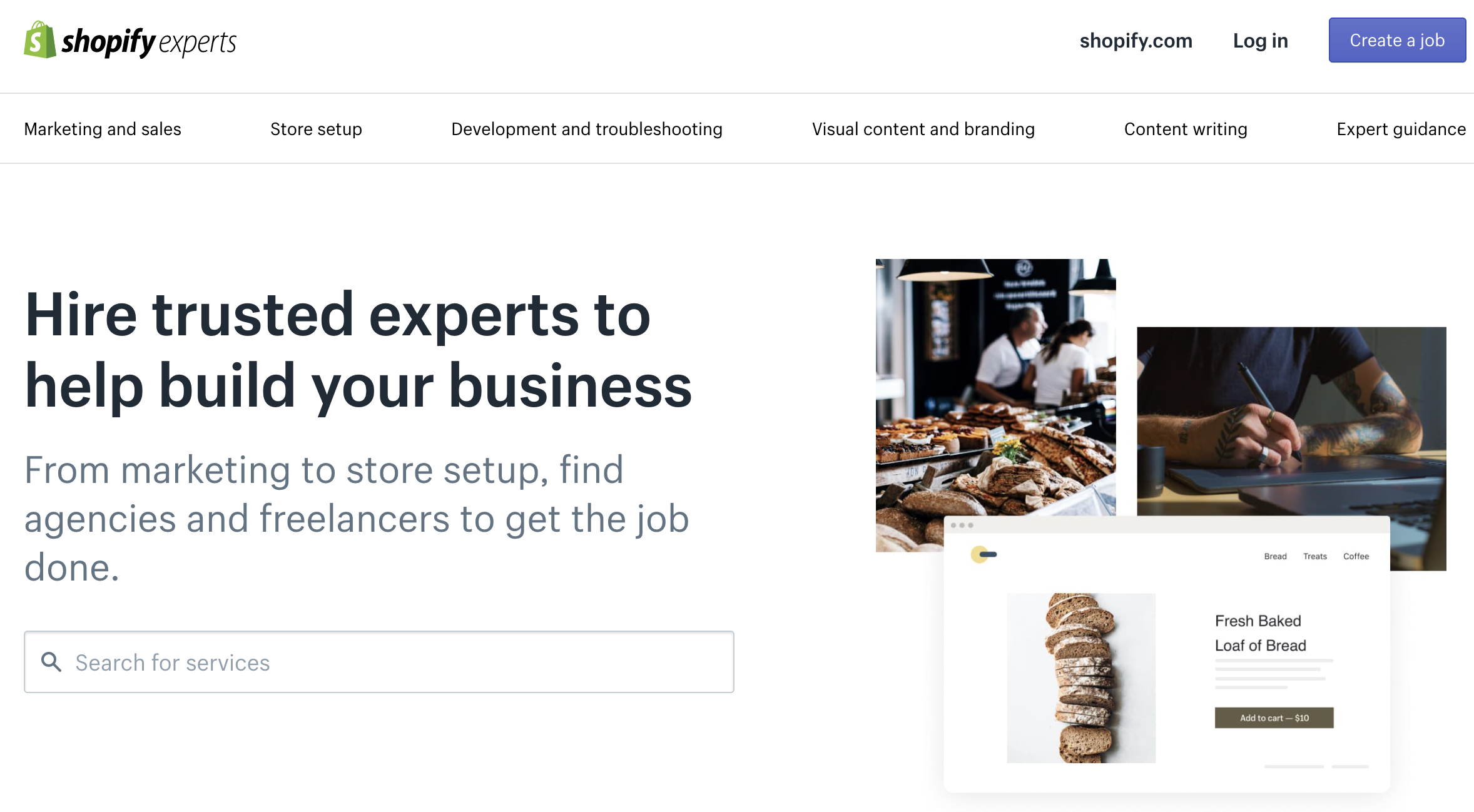 shopify experts homepage