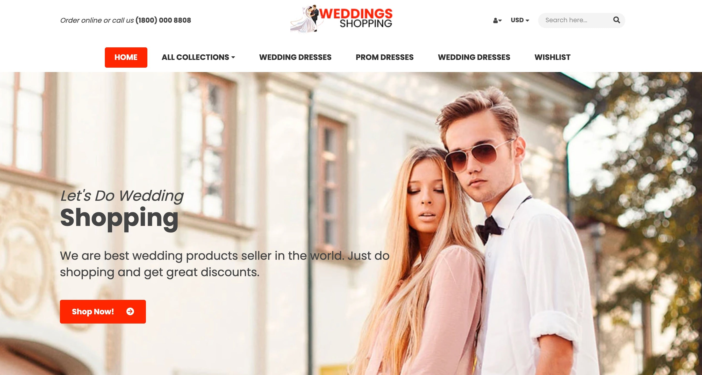 wedding shopping websites