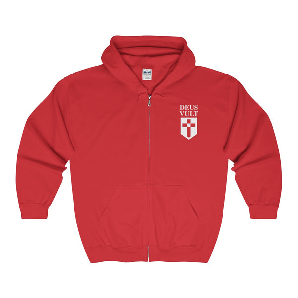 DEUS VULT Heavy Blend™ Full Zip Hooded Sweatshirt