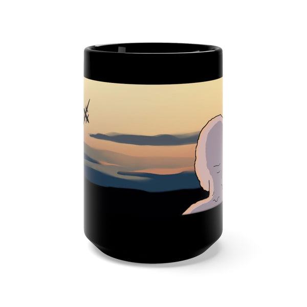 Sky King Would Fly Black Mug