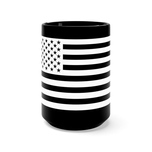 American Republic Black Mug 15oz