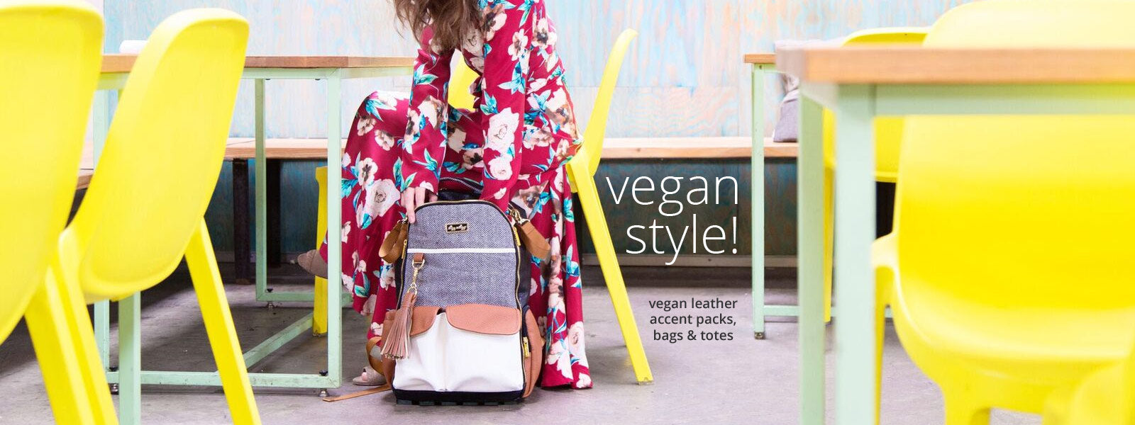 Vegan Leather Diaper Bags