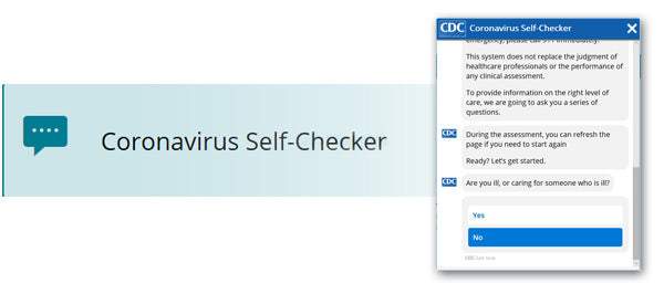 The CDC Coronavirus Self-Checker Test