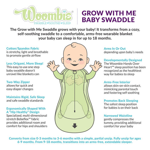 Woombie Grow with Me Swaddles