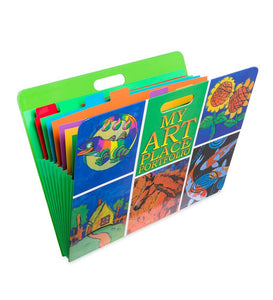 My Art Place Expandable Color-Tabbed Art Storage Portfolio