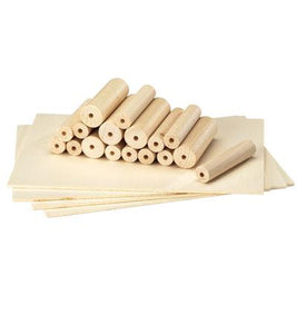 Set of 17 Extra Lathe Dowels and Wood Set