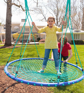 Sky Island 5' Diameter Platform Swing for Kids Outdoor Play