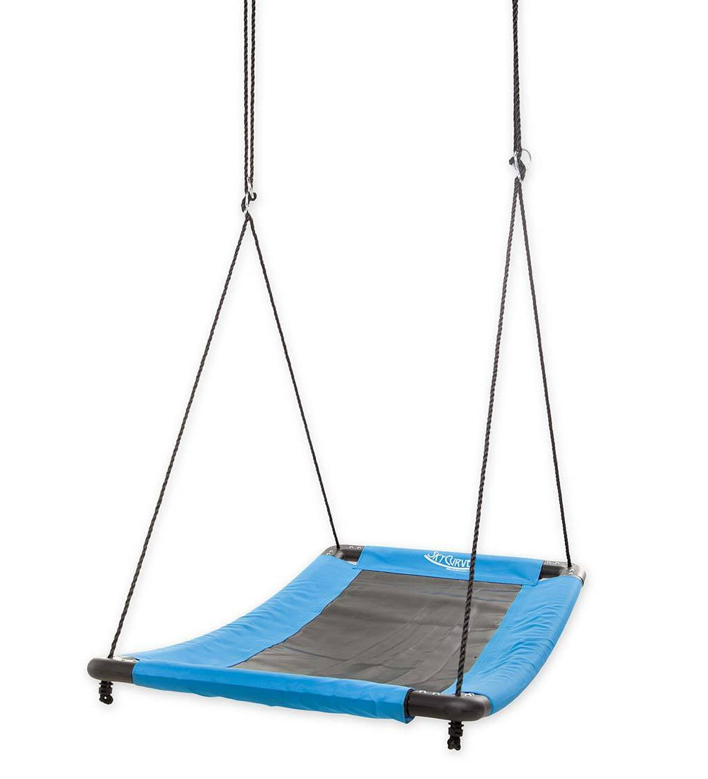 HearthSong SkyCurve Platform Swing - Outdoor Swing for Kids