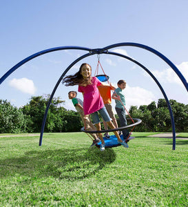 Kids Vortex Spinning Ring Swing Special: Vortex Swing & Sky Dome Stand