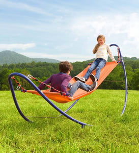 Rockin' 2-in-1 Hammock - Curved Steel Rocker for Kids Outdoor Play