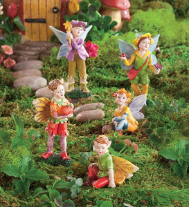 Set of 5 Nature-Themed Fairies