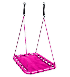 "Kids Mega Mat Outdoor Platform Tree Swing, 30"" x 40"", in Pink"