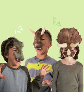 Set of 3 Dinosaur Masks