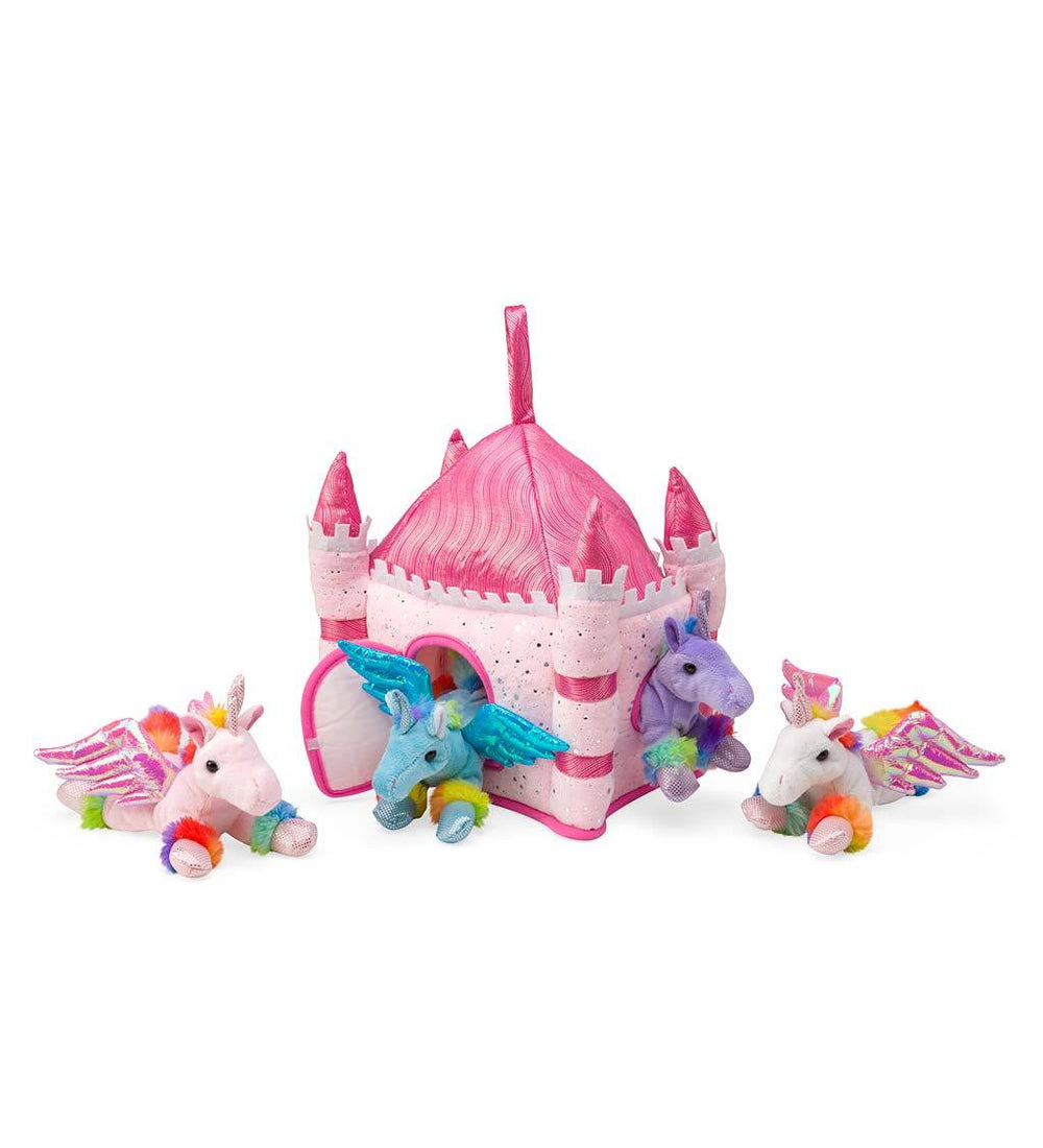 Plush Unicorn Portable Play Set