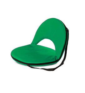 Kids 5-Position Portable Folding Chairs w/ Adjustable Strap, in Green
