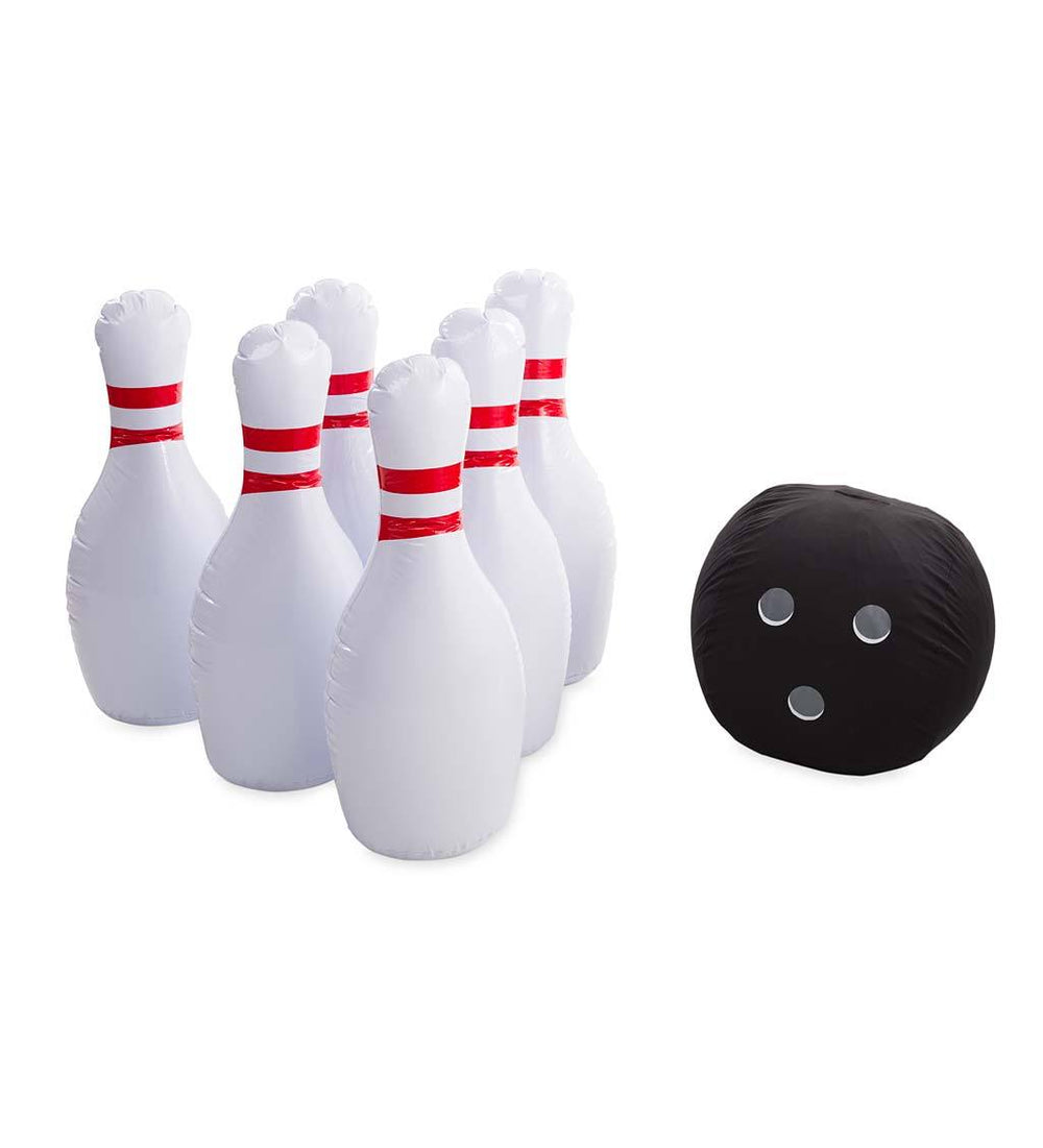 Giant Inflatable Bowling Game - Use Backyard Game Indoors or Outdoors