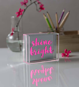 LED Inspirational Message Light Box
