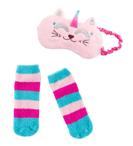 Eye Mask and Slipper Socks Set