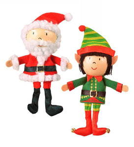 Set of Two Christmas Finger Puppets