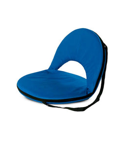 Kids 5-Position Portable Folding Chairs w/ Adjustable Strap, in Blue