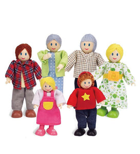 Contemporary All-Season Dollhouse Doll Family