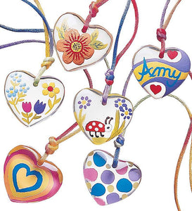 Color-My-Heart® Pendant Necklace Craft Kit-Set of Six
