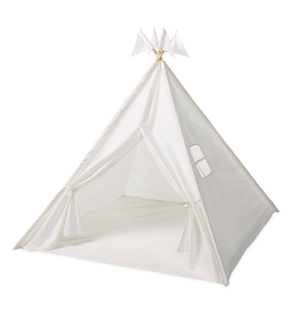 Fabric Indoor Play Tent with Sewn-in Floor and Interior Light