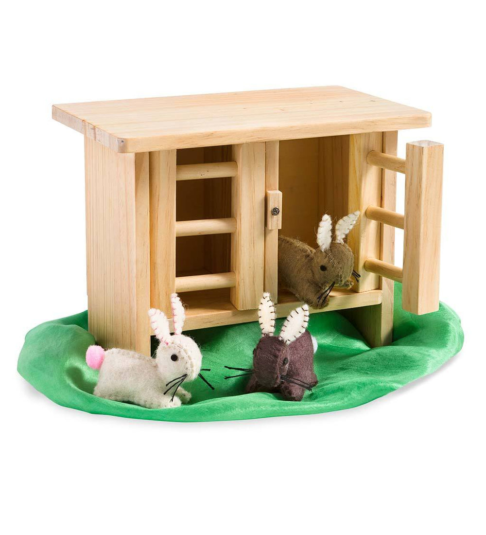 The Rabbit Hutch & Three Felt Bunnies
