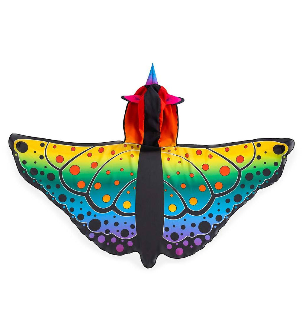 Rainbow Butterfly Unicorn Wings with Elastic Shoulder Straps