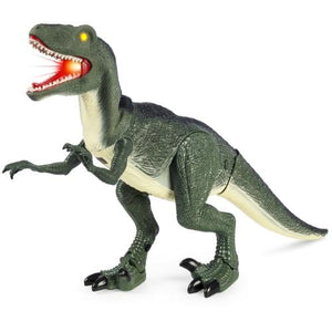 Velociraptor 21in Large Walking Toy Dinosaur w/ Real Sound and Lights