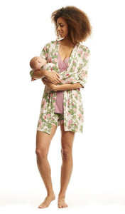 Adalia Mommy & Me 5-Piece PJ Set-Beige Floral