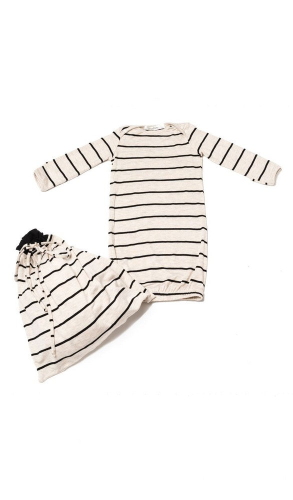 Adalia Mommy & Me 5-Piece PJ Set - Sand Stripe