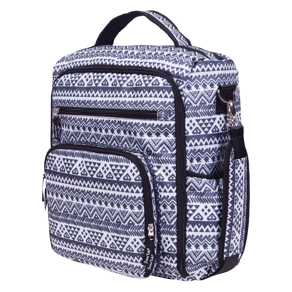 Aztec Black and White Convertible Backpack Diaper Bag