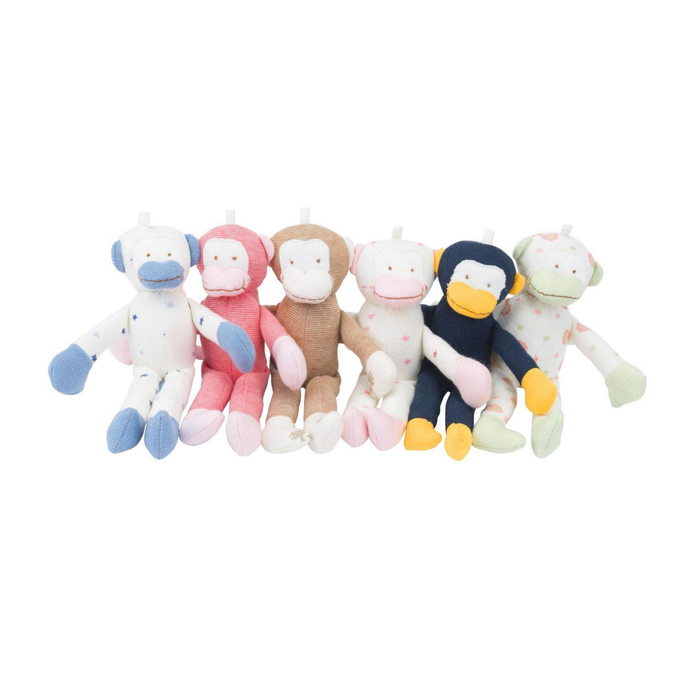 Baby Toy Scrappy Monkey Stuffed Animal 12 Pack 7""
