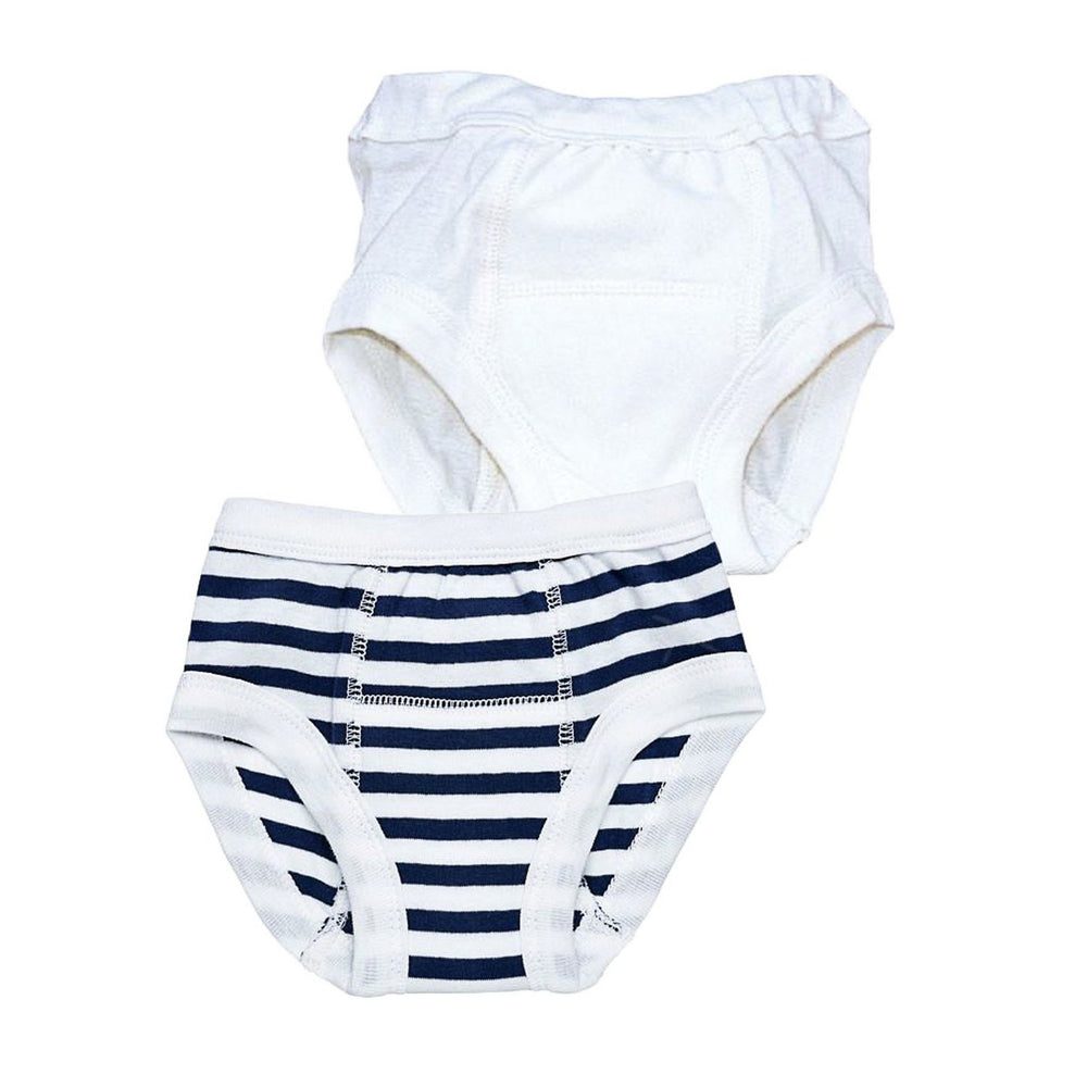 Navy Stripe & Off White / 2-4 Years