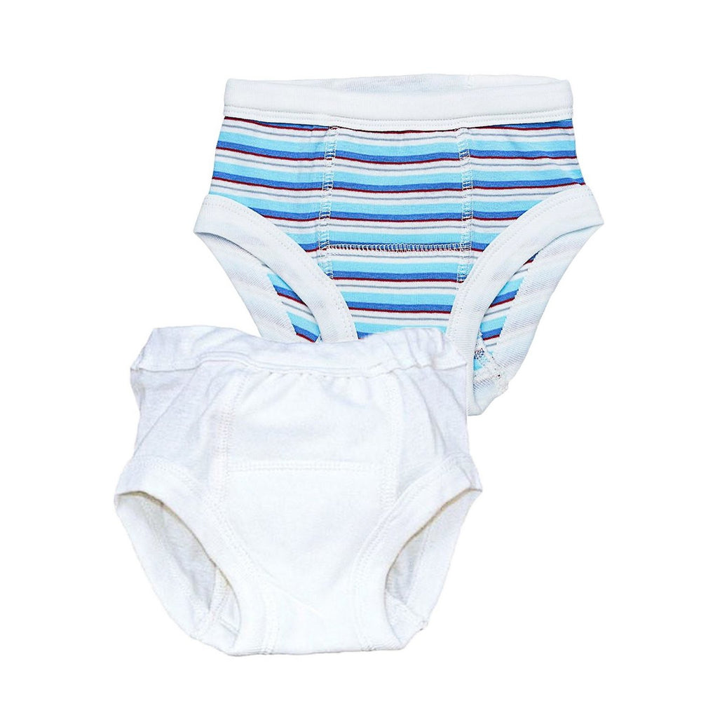 Blue Stripe & Off White / 2-4 Years