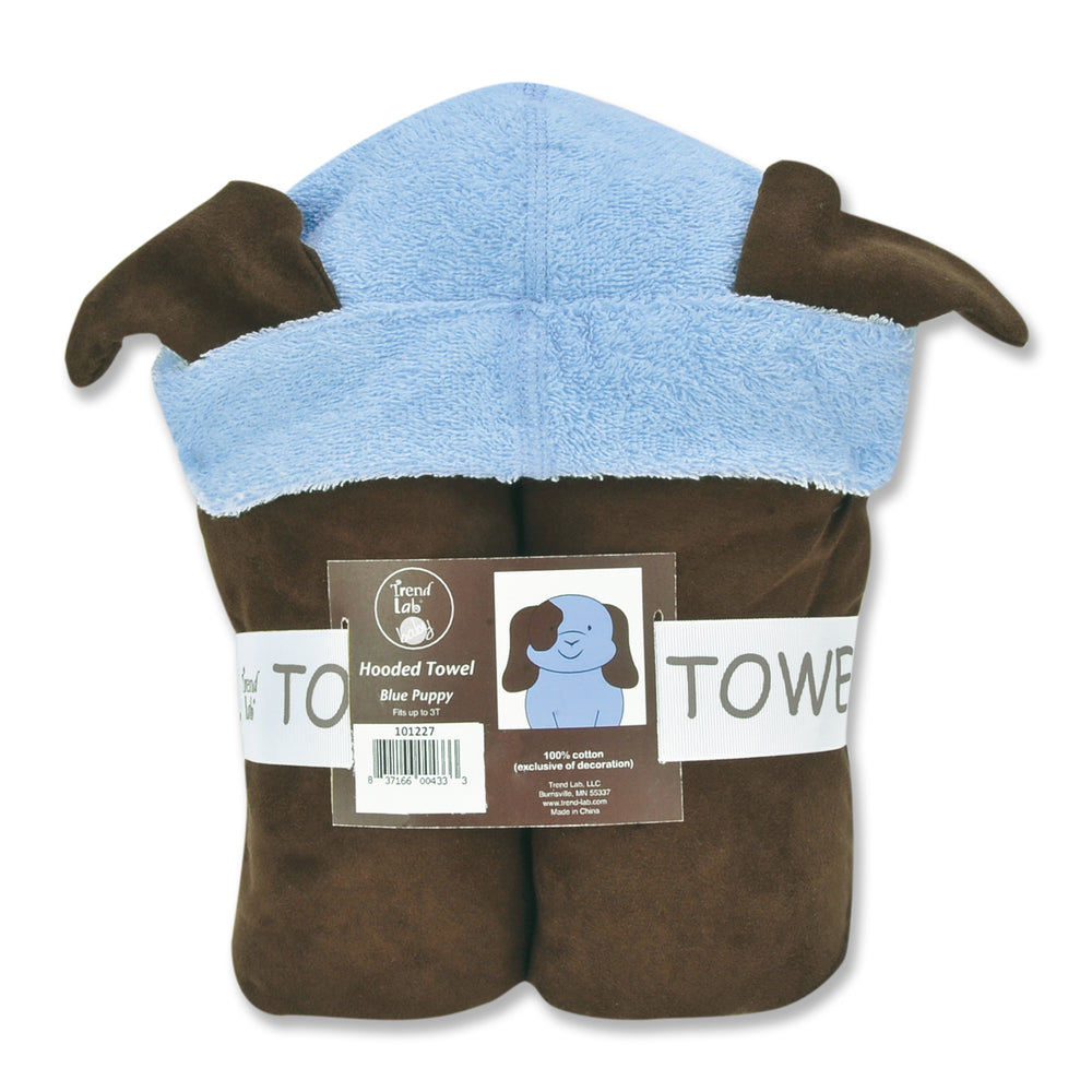 Character Hooded Towel - Blue Puppy