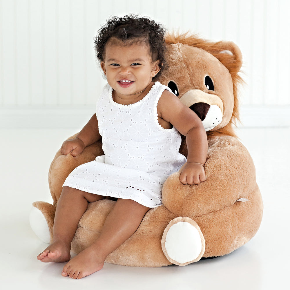Children's Plush Lion Character Chair