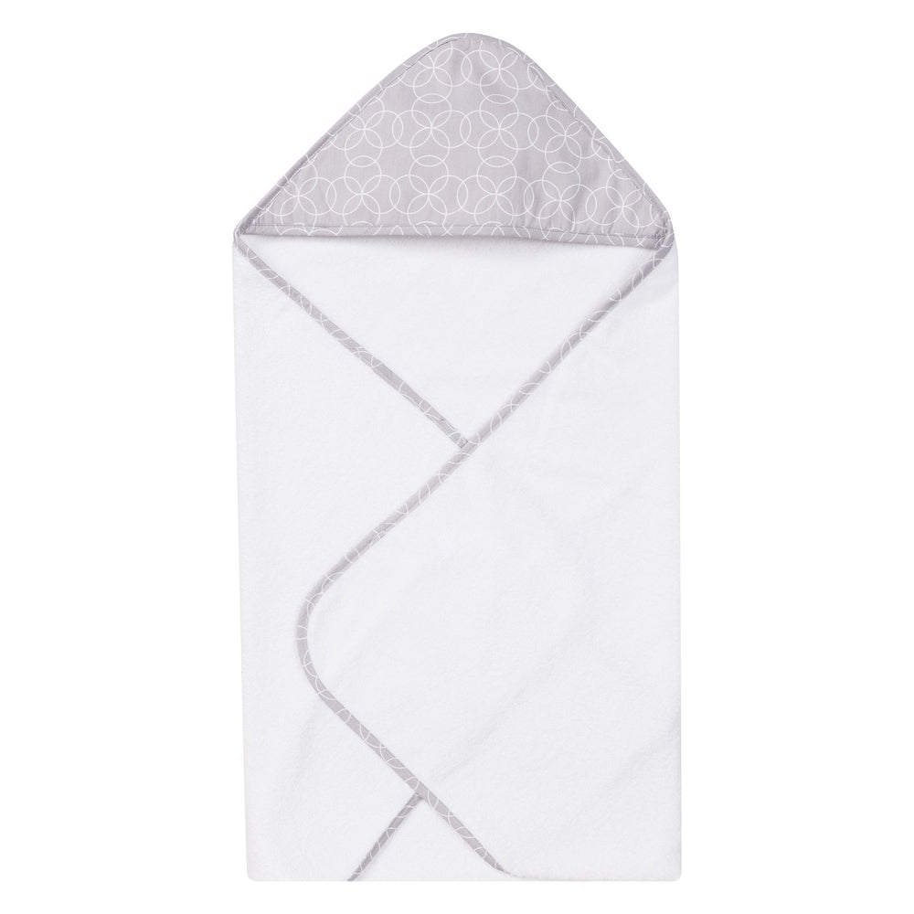 Circles Gray Deluxe Hooded Towel