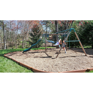 "Classic Sienna Curved Playground Border 16' – 2"" profile"
